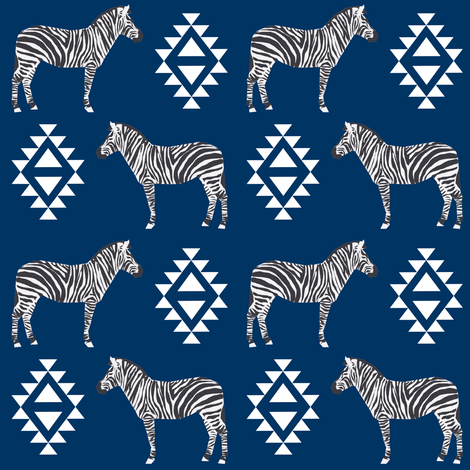 zebra fabric safari animals fabric nursery baby design navy fabric by charlottewinter on Spoonflower - custom fabric
