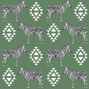 zebra fabric safari animals fabric nursery baby design green