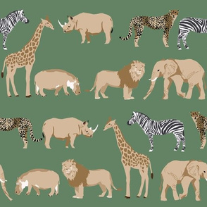 safari animals fabric safari nursery design green earth tones nursery