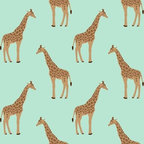 giraffe fabric safari animals nursery fabric baby nursery mint