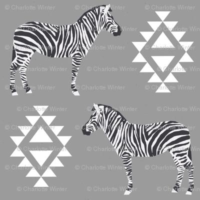 zebra fabric safari animals fabric nursery baby design grey
