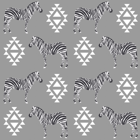 zebra fabric safari animals fabric nursery baby design grey fabric by charlottewinter on Spoonflower - custom fabric