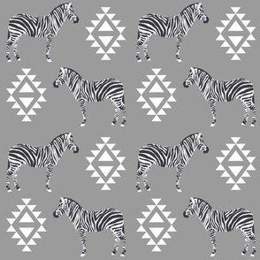 zebra fabric safari animals fabric nursery baby design grey