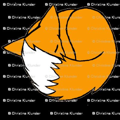 Sleepy Fox - White