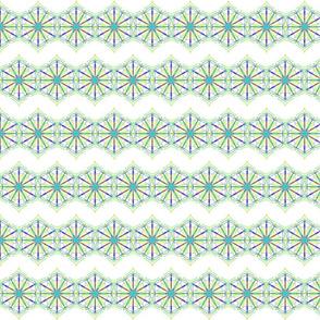 Lacy Hexagon Stars on Chevron Waves  Hexagons on Chevron Waves