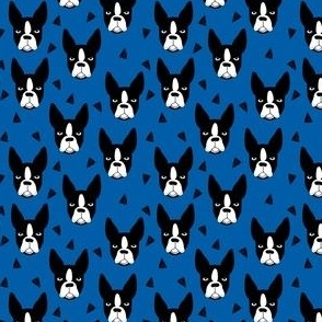 boston terrier dog fabric // blue dog design dogs by andrea lauren