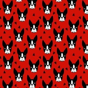 boston terrier dog fabric // red dog design dogs by andrea lauren