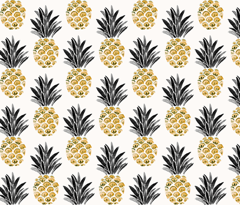 Vintage Pineapple fabric by crystal_walen on Spoonflower - custom fabric