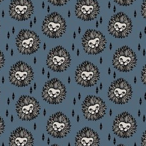 lion head fabric // small scale lions head fabric