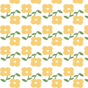 Yellow Spring Flower Pattern