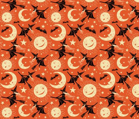 Broom_Ride fabric by johannaparkerdesign on Spoonflower - custom fabric