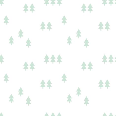 mint trees fabric by littlearrowdesign on Spoonflower - custom fabric