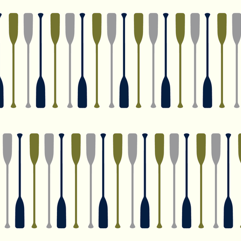 multi paddles - custom colors fabric by littlearrowdesign on Spoonflower - custom fabric