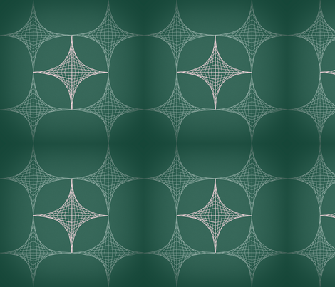 geodesic_green fabric by jenairothnie on Spoonflower - custom fabric