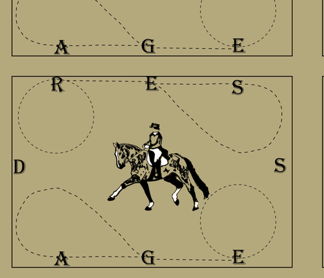 dressage placemat_taupe__RGB_B4A87D fabric by dres2ride on Spoonflower - custom fabric