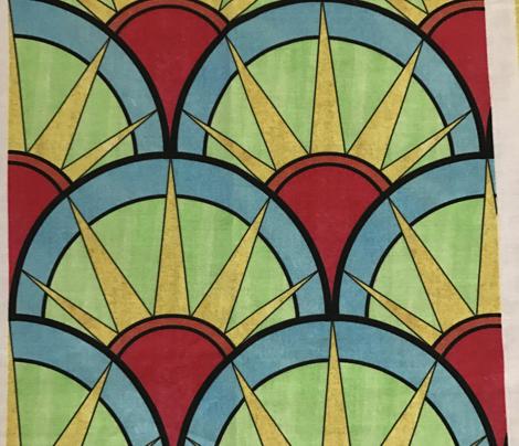 Fancy Rainbow Art Deco Pattern
