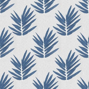 YUKI -small- blue bamboo leaves Japanese inspired