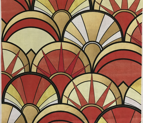 Orange Art Deco Mix Pattern