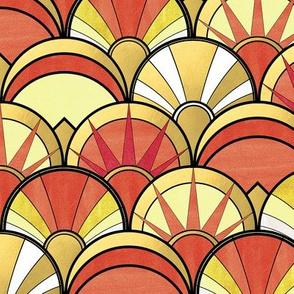 Orange Art Deco Mix Pattern