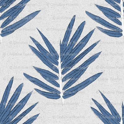 YUKI - blue bamboo leaves Japanese inspired