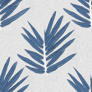 YUKI - blue bamboo leaves Japanese inspired
