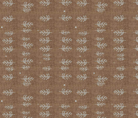 Night Forest (burnt umber) railroad fabric by nouveau_bohemian on Spoonflower - custom fabric