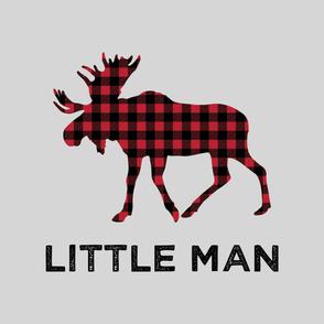 "Large Moose (fog) - Little Man - 42"" width"