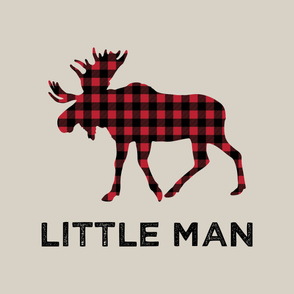 """Large moose (beige) - Little Man - 42"""" width"""