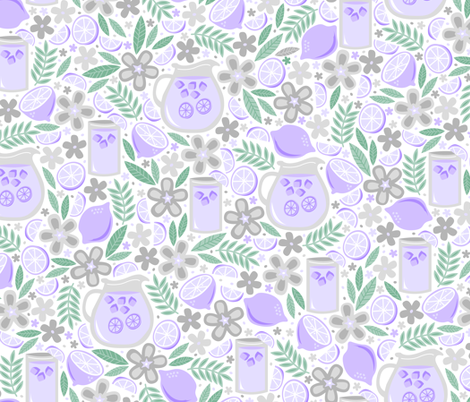 Lavendar Lemonade fabric by robyriker on Spoonflower - custom fabric