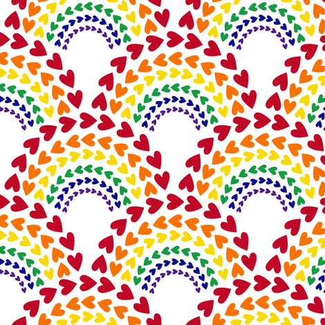 Rainbow Love fabric by robyriker on Spoonflower - custom fabric