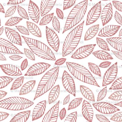hojas pink