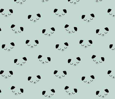 Puppies- Blue Mint fabric by kimsa on Spoonflower - custom fabric