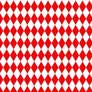 Red and White Harlequin