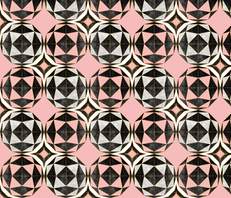 Geodesic optic roses fabric by selmacardoso on Spoonflower - custom fabric