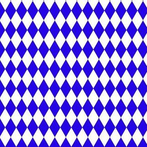 Blue and White Harlequin