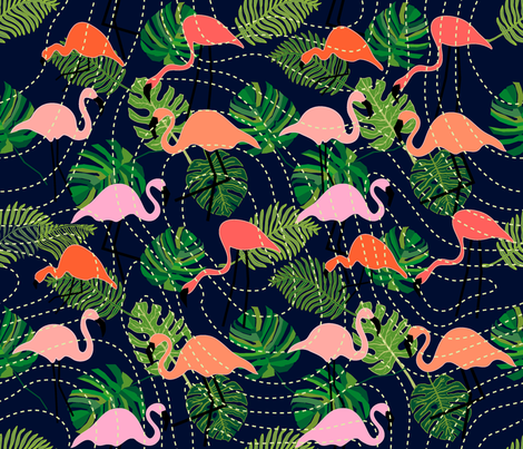 Tropical forest top view. Geodesic pattern. fabric by svetlana_kononova on Spoonflower - custom fabric