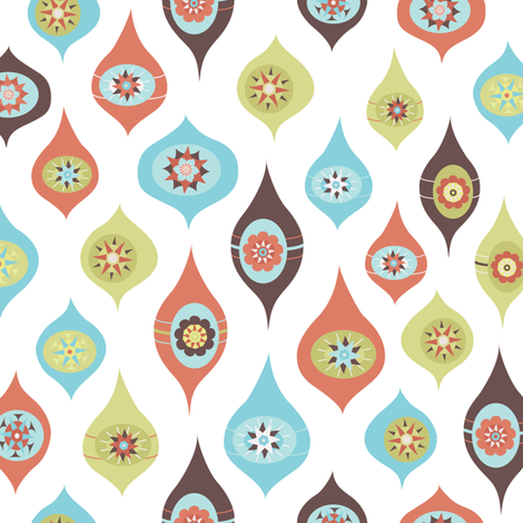 Mod Ornaments fabric by calobeedoodles on Spoonflower - custom fabric