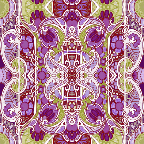Purple Grows Its Own Way fabric by edsel2084 on Spoonflower - custom fabric