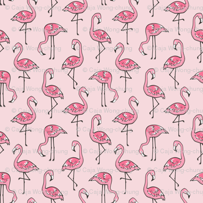 Flamingos in Pink Smaller