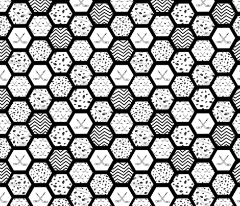 hockey hex fabric by pamelachi on Spoonflower - custom fabric