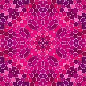 pink and purple mosaic