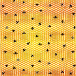 Honeycombs & Bees - Bright