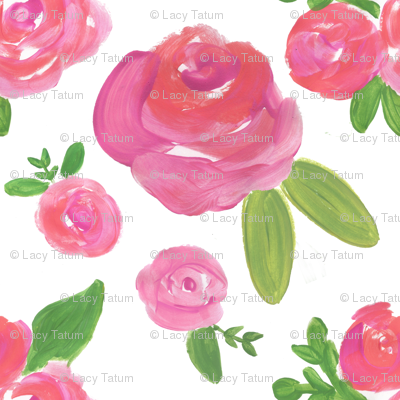 fuschia rose pink floral