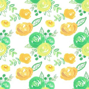 lemon lime vintage floral