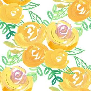 golden summer acrylic floral