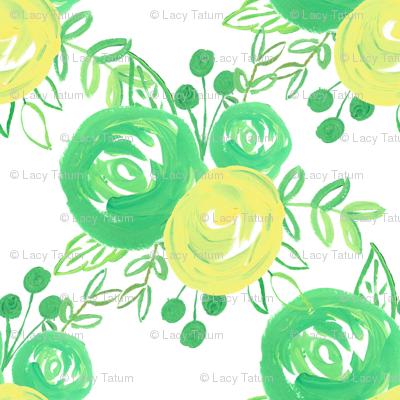 lemon lime roses