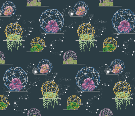 Midnight Botanical fabric by festoonery on Spoonflower - custom fabric