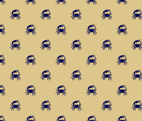 Cape Cod Fiddler Crabs fabric by heretherebemonsters on Spoonflower - custom fabric