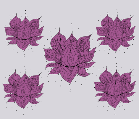 Lotus Flowers  Mandalas fabric by therustichome on Spoonflower - custom fabric