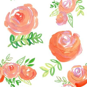 coral salmon acrylic floral